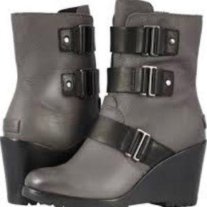Sorel Gray Wedge Boot
